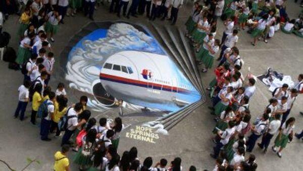 Các học sinh đã vẽ bức graffiti ba chiều về chuyến bay MH370 bị mất tích - Sputnik Việt Nam