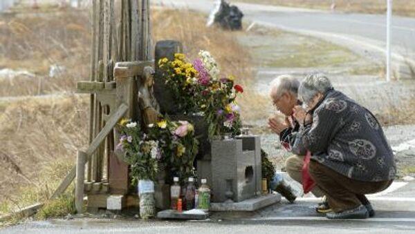 Cầu nguyện tưởng nhớ các nạn nhân của trận động đất gần Tokyo. - Sputnik Việt Nam