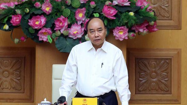 Thủ tướng Nguyễn Xuân Phúc, Chủ tịch Hội đồng – Thi đua khen thưởng Trung ương phát biểu. - Sputnik Việt Nam