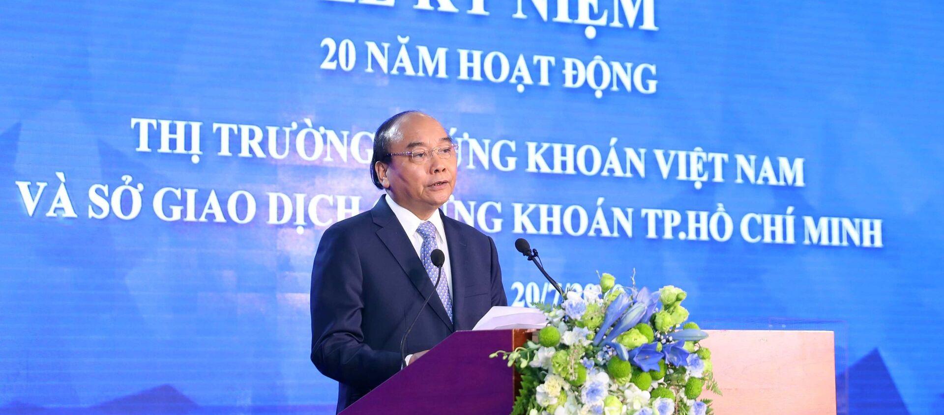 Thủ tướng Nguyễn Xuân Phúc phát biểu tại buổi lễ. - Sputnik Việt Nam, 1920, 20.07.2020