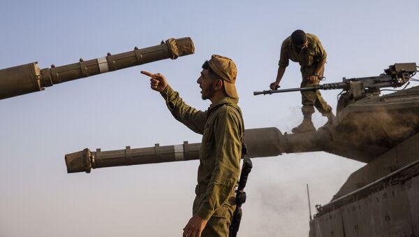 Những người lính Israel ở Cao nguyên Golan do Israel kiểm soát - Sputnik Việt Nam