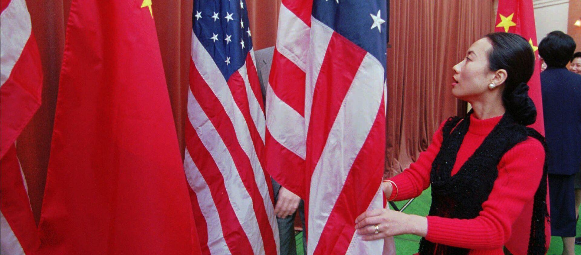 Quốc kỳ của Trung Quốc và Hoa Kỳ - Sputnik Việt Nam, 1920, 02.04.2021