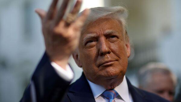 Tổng thống Mỹ Donald Trump gặp gỡ báo chí tại Nhà Trắng - Sputnik Việt Nam