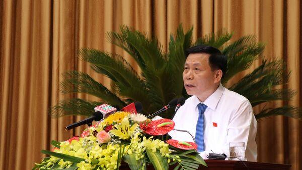 Bí thư Tỉnh ủy Bắc Ninh Nguyễn Nhân Chiến phát biểu tại Kỳ họp. - Sputnik Việt Nam