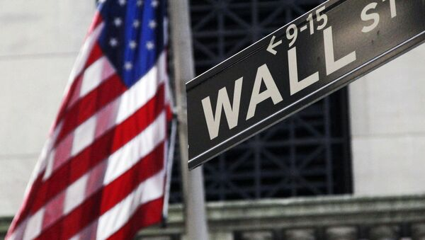 Cờ Mỹ trên Wall Street ở New York. - Sputnik Việt Nam