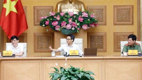 Phó Thủ tướng Vũ Đức Đam phát biểu tại cuộc họp. - Sputnik Việt Nam