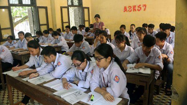 Buổi ôn tập của các học sinh trường THPT A Bình Lục. - Sputnik Việt Nam