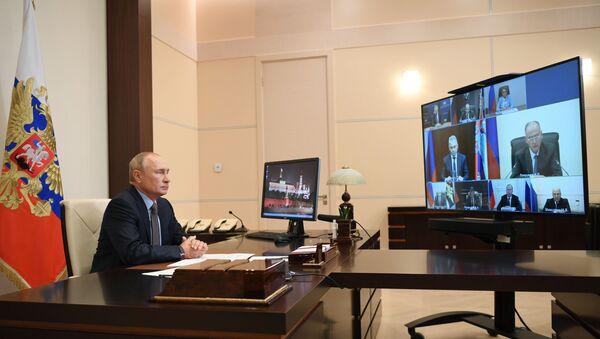 Tổng thống Nga Vladimir Putin tham gia cuộc họp của Hội đồng An ninh - Sputnik Việt Nam