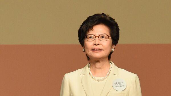 Người đứng đầu chính quyền Hồng Kông, bà Carrie Lam - Sputnik Việt Nam
