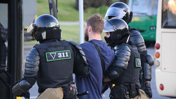 Bắt giữ người biểu tình ở Minsk - Sputnik Việt Nam