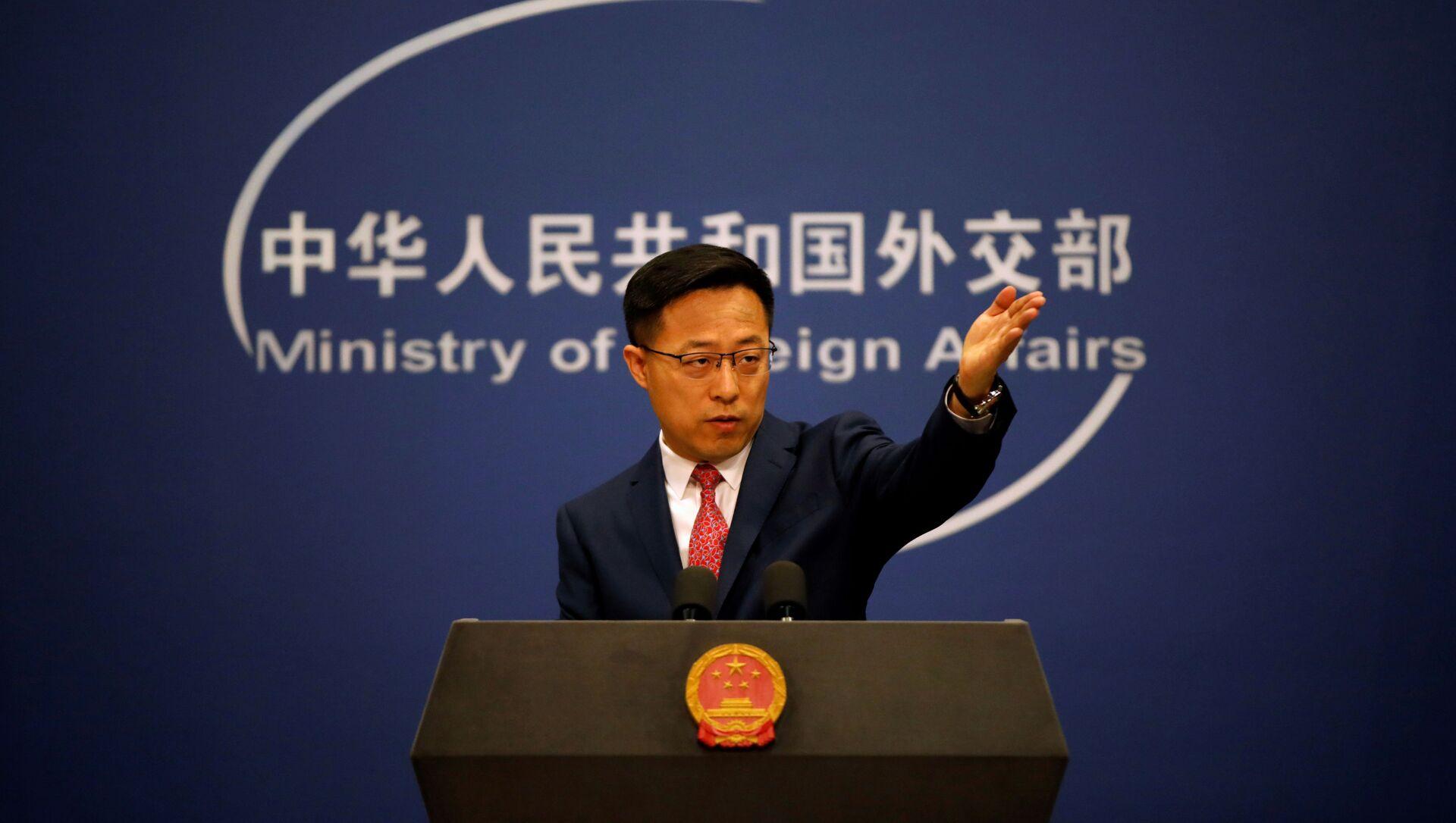 Người phát ngôn Bộ Ngoại giao Trung Quốc Zhao Lijian - Sputnik Việt Nam, 1920, 23.09.2021