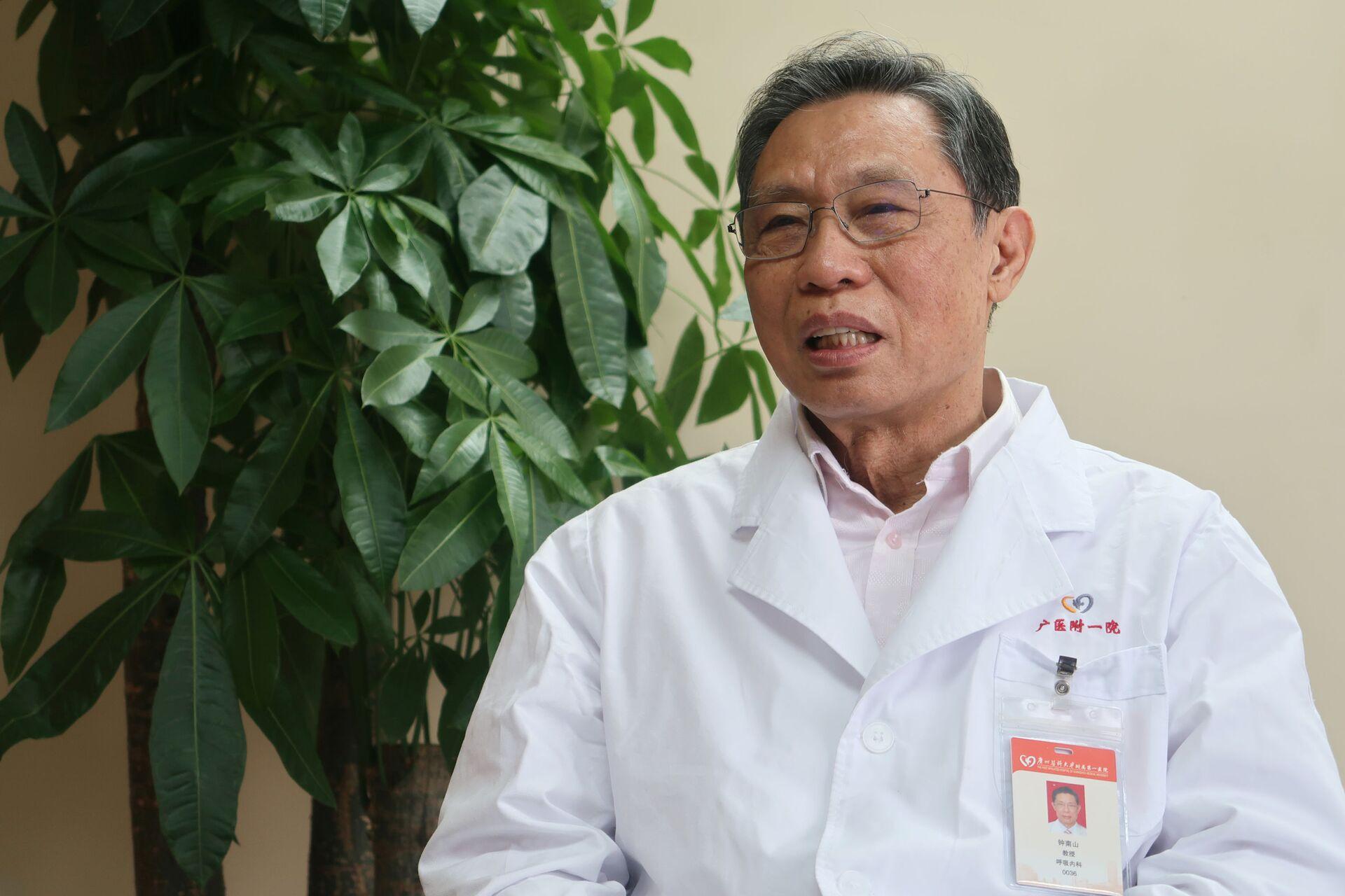 Chuyên gia virus học hàng đầu của Trung Quốc, viện sĩ Chung Nam Sơn(Zhong Nanshan) - Sputnik Việt Nam, 1920, 05.10.2021