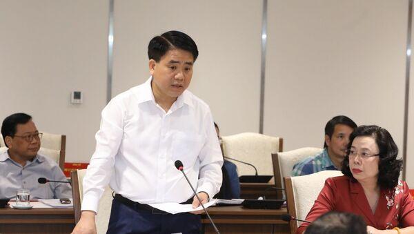 Phó Bí thư Thành ủy, Chủ tịch UBND thành phố Nguyễn Đức Chung phát biểu tại buổi làm việc. - Sputnik Việt Nam