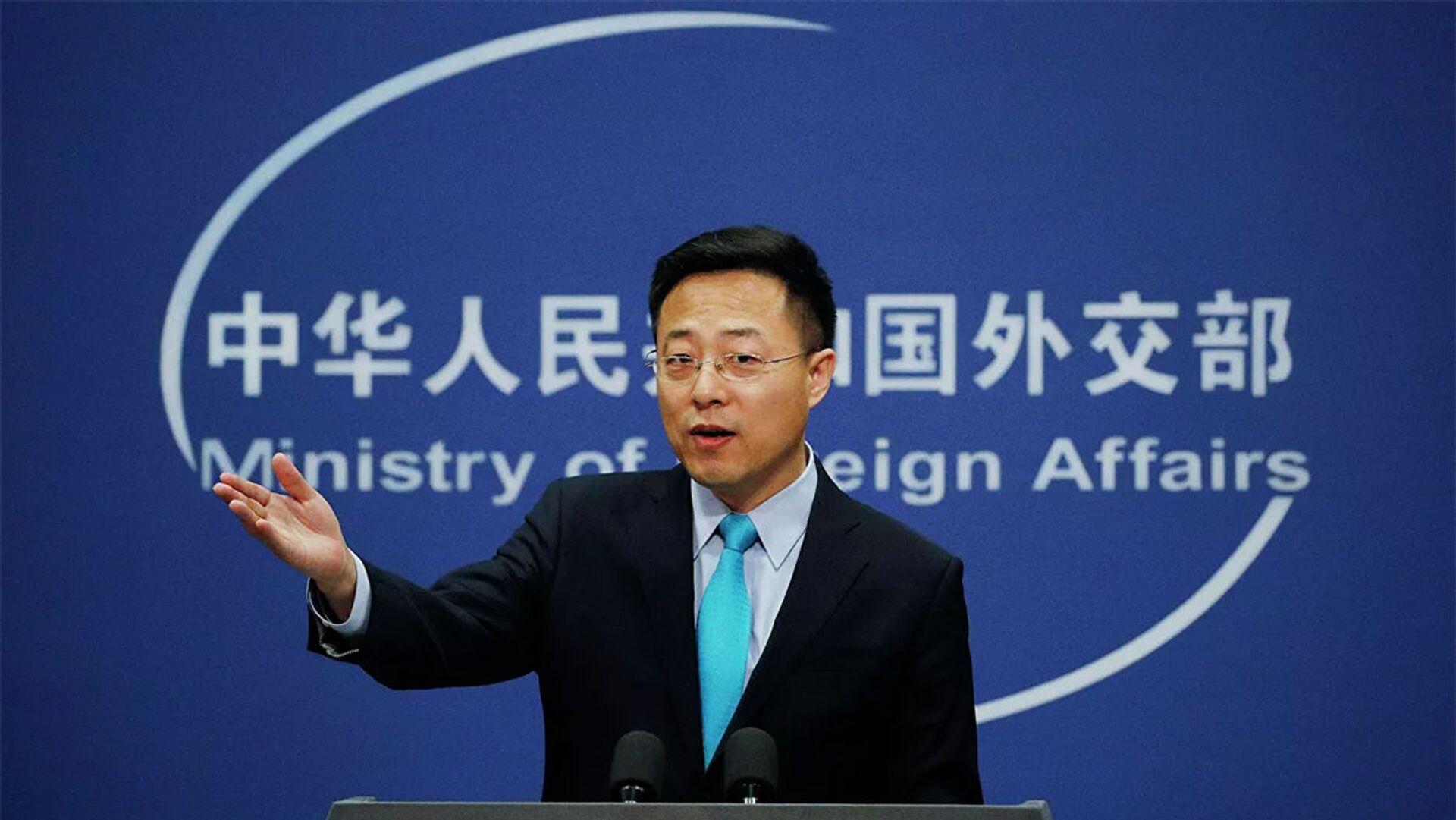 Đại diện chính thức của Bộ Ngoại giao Trung Quốc Triệu Lập Kiên (Zhao Lijian). - Sputnik Việt Nam, 1920, 15.03.2021