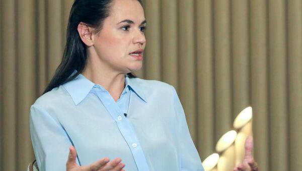 Cựu ứng cử viên tổng thống của Belarus Svetlana Tikhanovskaya - Sputnik Việt Nam