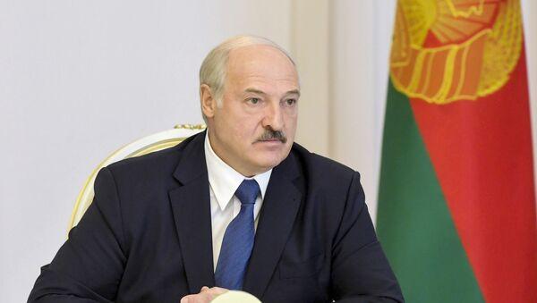 Tổng thống Belarus Alexander Lukashenko phát biểu tại Hội đồng Bảo an ở Minsk - Sputnik Việt Nam
