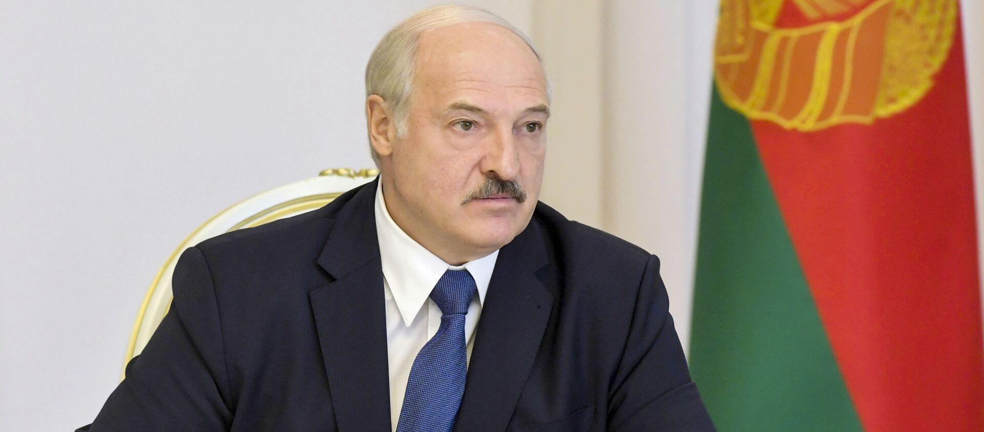 Tổng thống Belarus Alexander Lukashenko phát biểu tại Hội đồng Bảo an ở Minsk - Sputnik Việt Nam, 1920, 09.05.2021