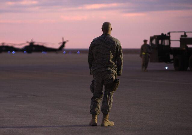 Lính Mỹ tại căn cứ không quân Ein al-Assad ở Iraq