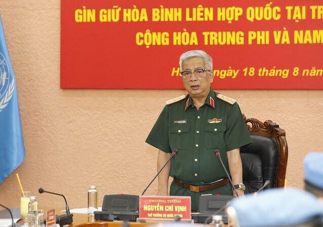 Thượng tướng Nguyễn Chí Vịnh, Thứ trưởng Bộ Quốc phòng giao nhiệm vụ cho các sĩ quan đi làm nhiệm vụ gìn giữ hòa bình Liên hợp quốc