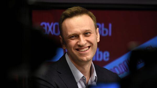 Alexey Navalny trong một cuộc phỏng vấn trên đài phát thanh Tiếng vọng của Moscow - Sputnik Việt Nam