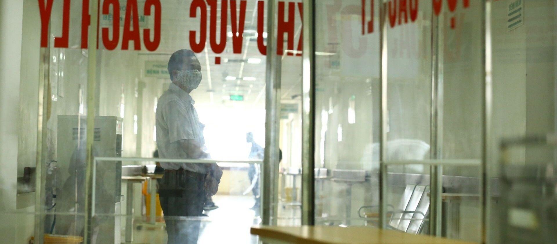 Khu cách ly cho công dân trở về từ Guinea Xích đạo tại bệnh viện Bệnh Nhiệt đới TƯ cơ sở 2 - Sputnik Việt Nam, 1920, 08.09.2020