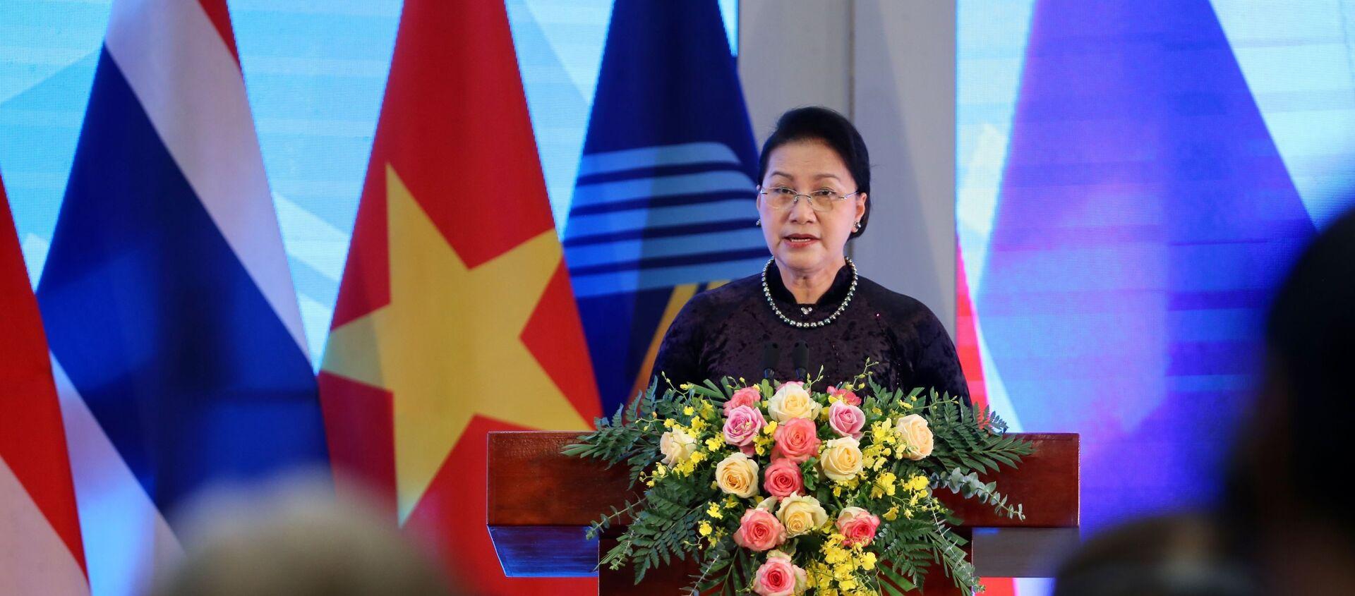 Chủ tịch Quốc hội Nguyễn Thị Kim Ngân, Chủ tịch AIPA 41 phát biểu bế mạc. - Sputnik Việt Nam, 1920, 10.09.2020