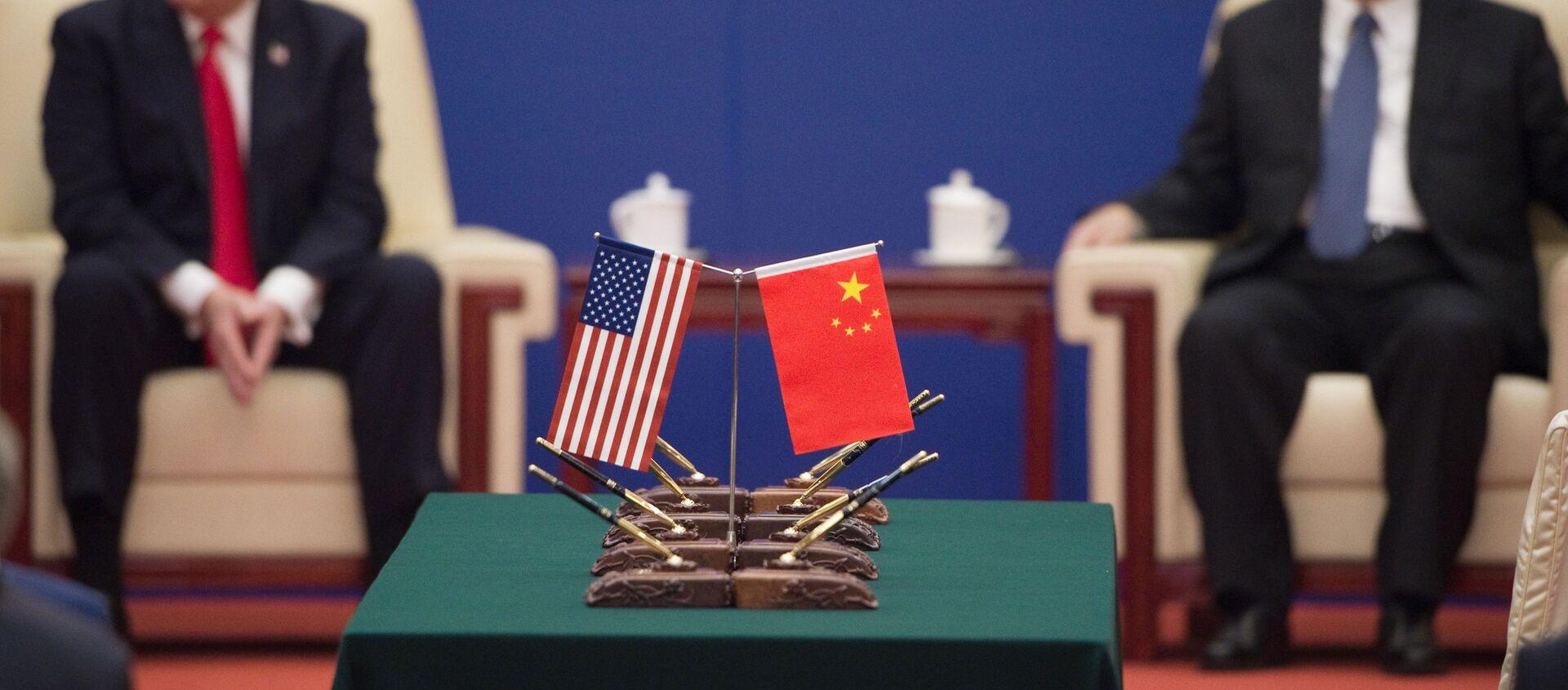 Tổng thống Donald Trump và Chủ tịch Trung Quốc Tập Cận Bình tại Bắc Kinh - Sputnik Việt Nam, 1920, 11.09.2020