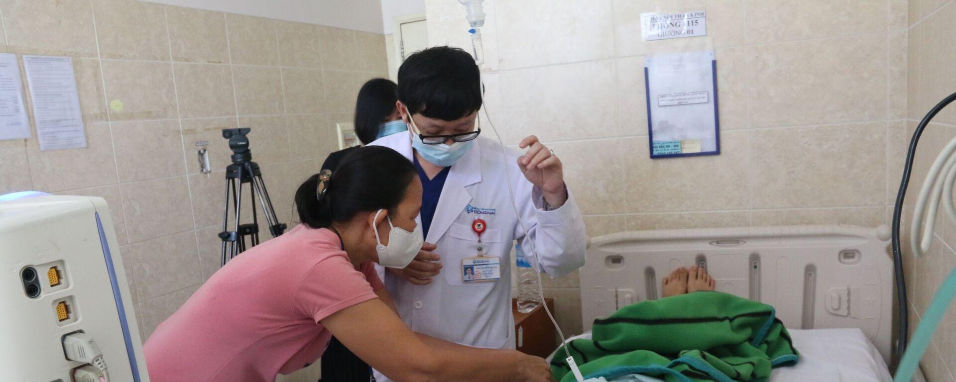 Bệnh nhân N.T.N.T được điều trị tích cực tại Bệnh viện đa khoa Đồng Nai - Sputnik Việt Nam, 1920, 12.09.2020
