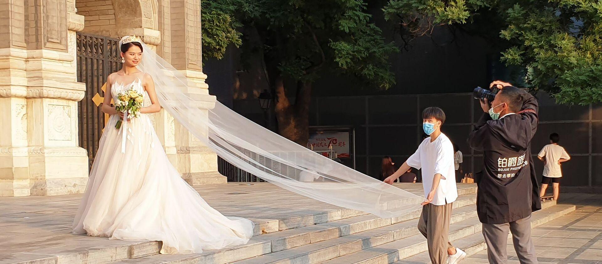 Chụp ảnh cô dâu trên đường phố ở Bắc Kinh - Sputnik Việt Nam, 1920, 15.09.2020