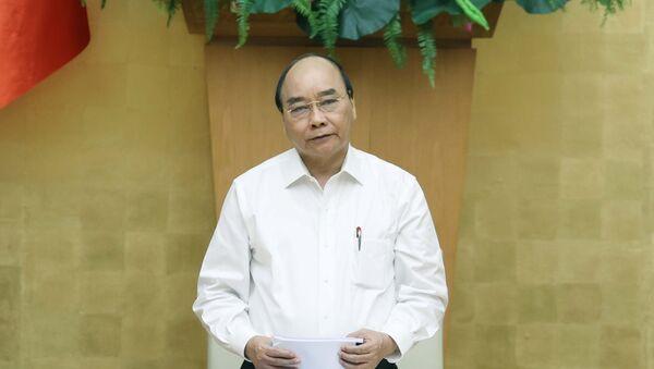 Thủ tướng Nguyễn Xuân Phúc, Chủ tịch Hội đồng Thi đua - Khen thưởng Trung ương phát biểu. - Sputnik Việt Nam