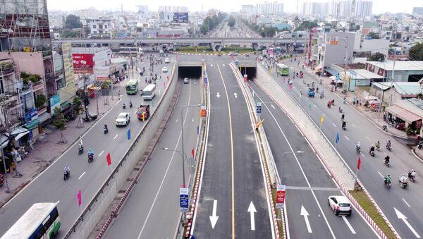 Nút giao thông An Sương trở thành nút giao hoàn chỉnh, với quy mô ba tầng. - Sputnik Việt Nam