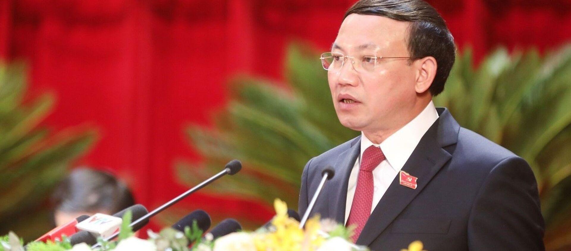 Bí thư Tỉnh ủy Quảng Ninh Nguyễn Xuân Ký nhiệm kỳ 2020 - 2025 phát biểu tại Đại hội - Sputnik Việt Nam, 1920, 27.09.2020