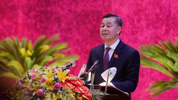 Phó Bí thư Tỉnh uỷ tình Hoà Bình Ngô Văn Tuấn phát biểu tại đại hội. - Sputnik Việt Nam