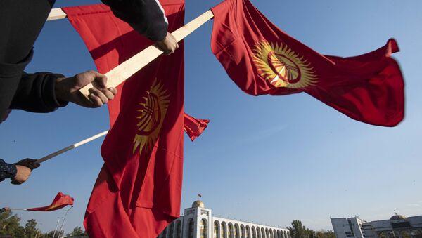 Biểu tình sau bầu cử quốc hội ở Bishkek. - Sputnik Việt Nam