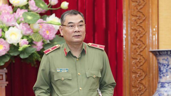 Thiếu tướng Tô Ân Xô, Người phát ngôn, Chánh Văn phòng Bộ Công an phát biểu.  - Sputnik Việt Nam