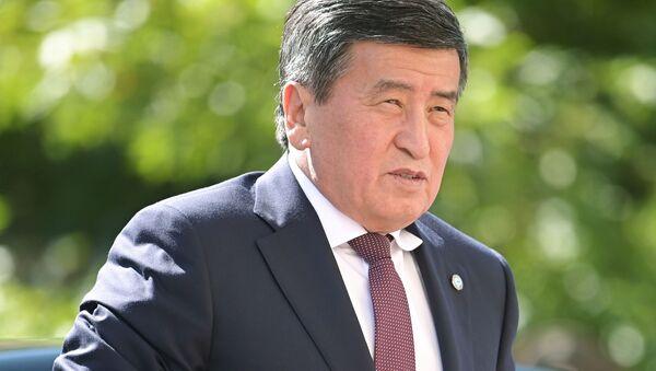 Tổng thống Kyrgyzstan Sooronbay Jeenbekov - Sputnik Việt Nam