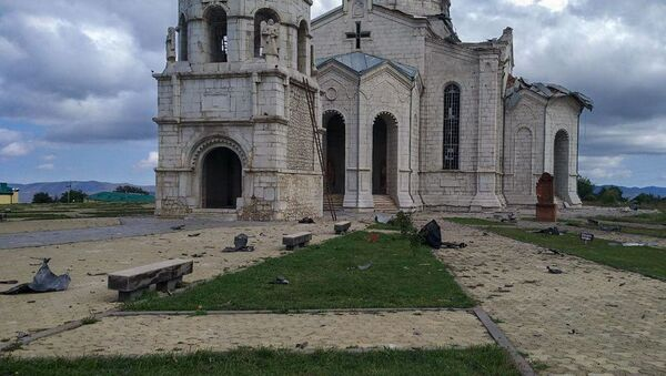 Nhà thờ ở Shushi bị bắn phá - Sputnik Việt Nam