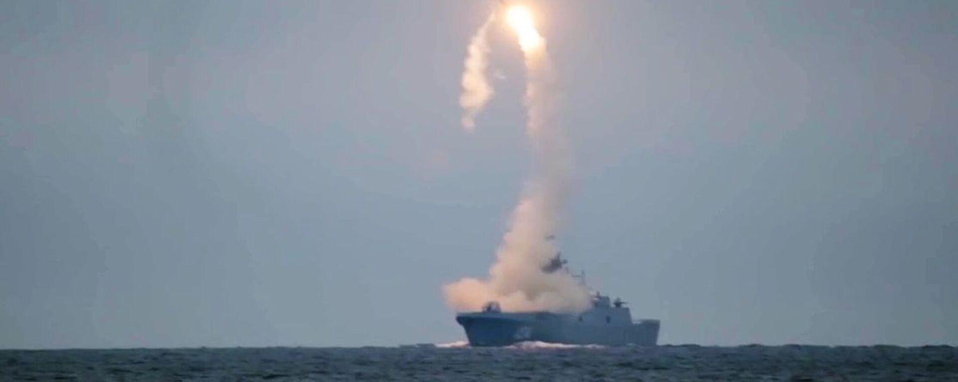 """Lần đầu tiên phóng tên lửa siêu thanh Zircon từ tàu """"Đô đốc Gorshkov - Sputnik Việt Nam, 1920, 29.03.2021"""