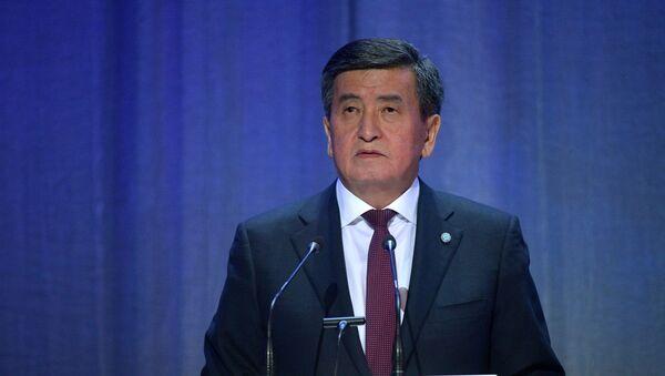 Tổng thống Kyrgyzstan Sooronbai Jeenbekov - Sputnik Việt Nam