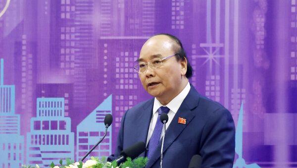 Thủ tướng Nguyễn Xuân Phúc, Chủ tịch ASEAN 2020 phát biểu tại diễn đàn. - Sputnik Việt Nam