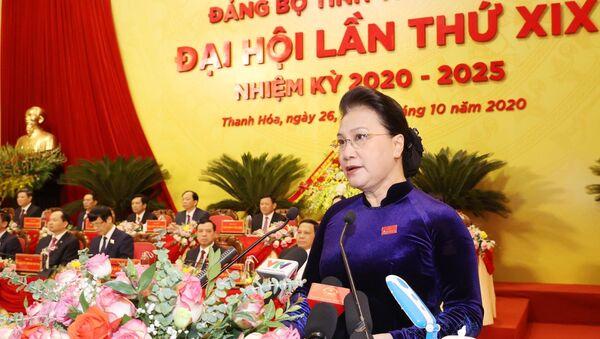 Chủ tịch Quốc hội Nguyễn Thị Kim Ngân phát biểu chỉ đạo tại Đại hội. - Sputnik Việt Nam