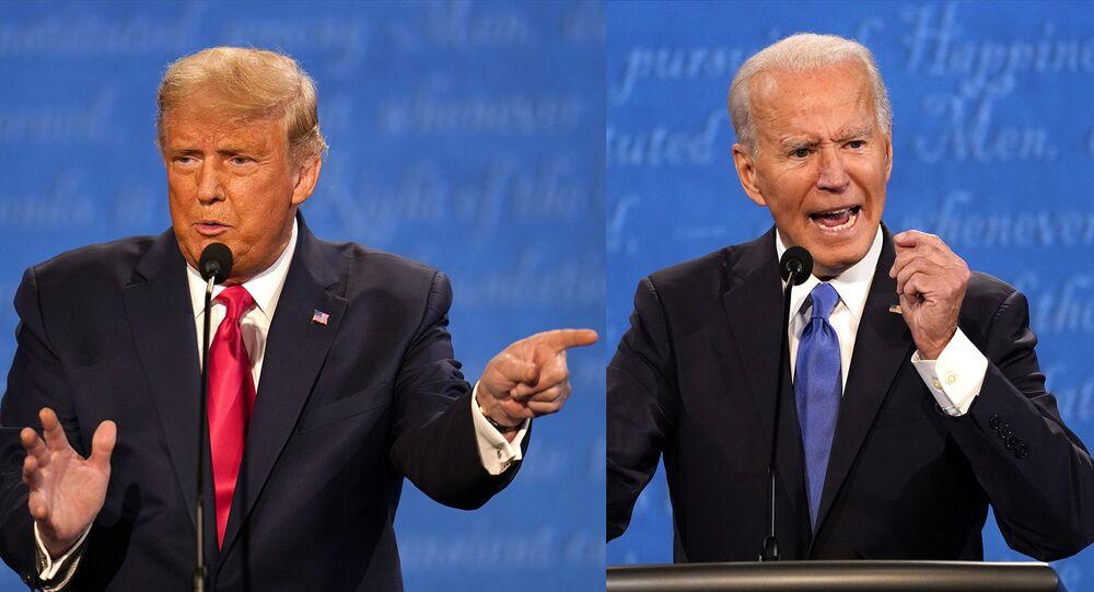 Ảnh ghép Donald Trump và Joe Biden