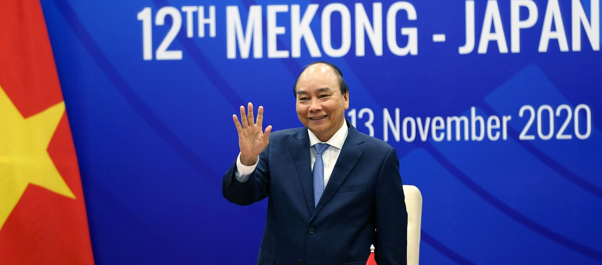 Thủ tướng Nguyễn Xuân Phúc chào lãnh đạo các nước ASEAN, Nhật Bản và các đại biểu dự Hội nghị Cấp cao Mekong - Nhật Bản lần thứ 12 theo hình thức trực tuyến. - Sputnik Việt Nam, 1920, 13.11.2020