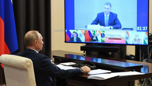 Tổng thống Nga V.Putin tham dự Hội nghị cấp cao BRICS lần thứ XII - Sputnik Việt Nam