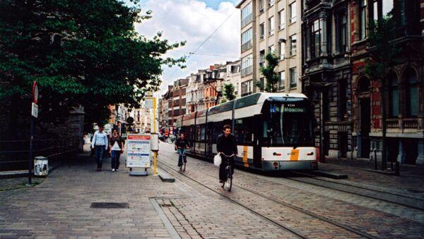 Tàu điện đường phố ở Gent, Bỉ  - Sputnik Việt Nam