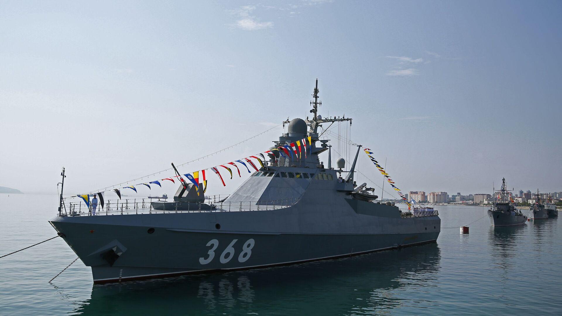 Tàu tuần tra dự án 22160 Vasily Bykov. - Sputnik Việt Nam, 1920, 25.06.2021