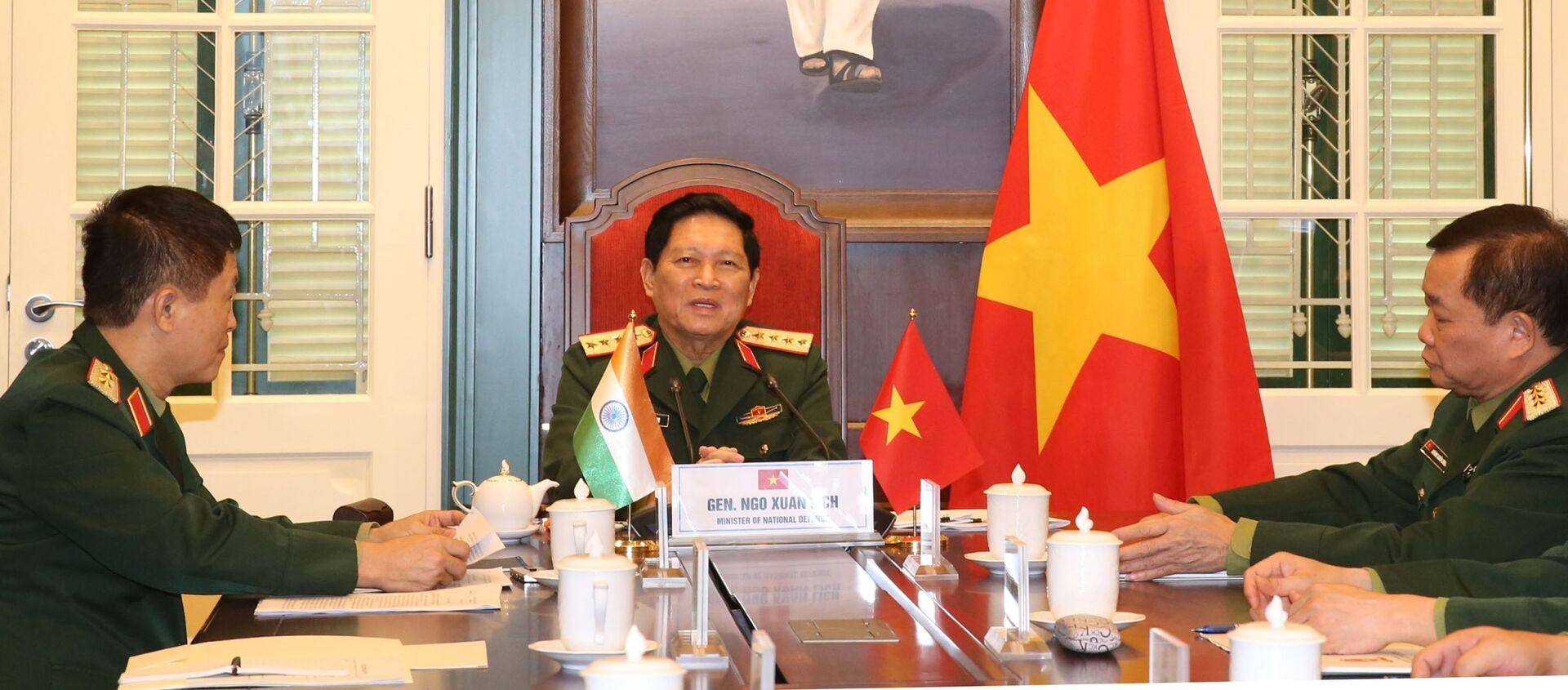 Đại tướng Ngô Xuân Lịch, Bộ trưởng Bộ Quốc phòng điện đàm với Ngài Rajnath Singh, Bộ trưởng Bộ Quốc phòng Ấn Độ. - Sputnik Việt Nam, 1920, 27.11.2020