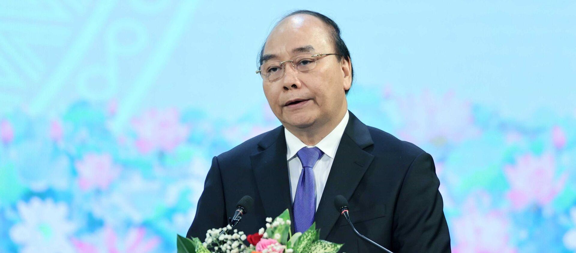 Thủ tướng Nguyễn Xuân Phúc đọc diễn văn tại Lễ kỷ niệm - Sputnik Việt Nam, 1920, 01.12.2020