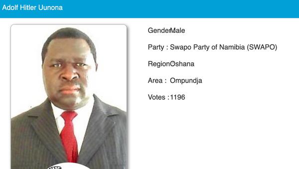 Chính trị gia người Namibia Adolf Hitler Uunona - Sputnik Việt Nam
