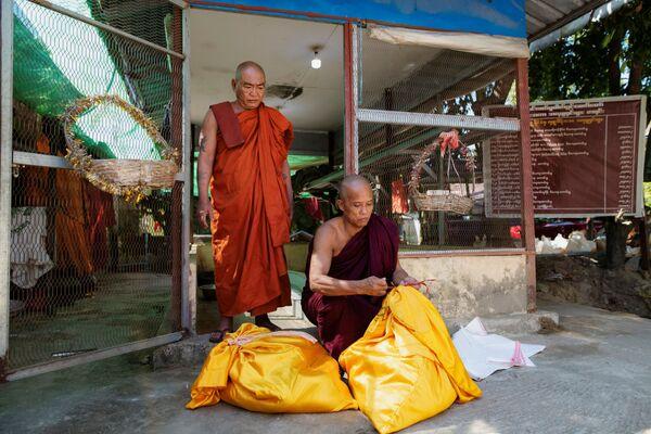 Các tăng lữ trong ngôi chùa ở Myanmar - Sputnik Việt Nam